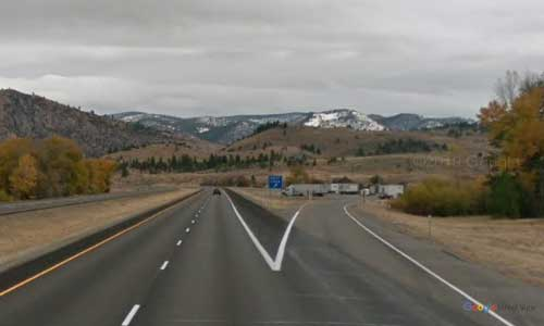 mt interstate i90 montana bearmouth rest area eastbound mile marker 143