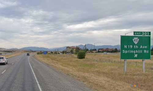 mt interstate i90 montana bozeman rest area eastbound mile marker 305