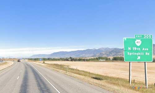 mt interstate i90 montana bozeman rest area westbound mile marker 305