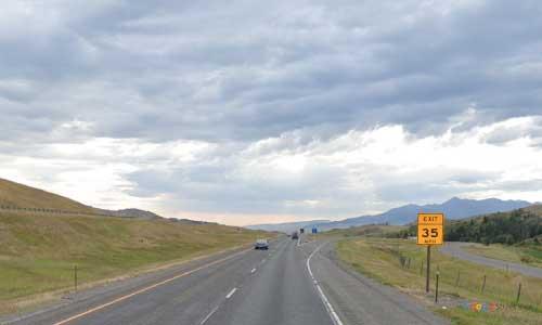 mt interstate i90 montana livingston rest area eastbound mile marker 326