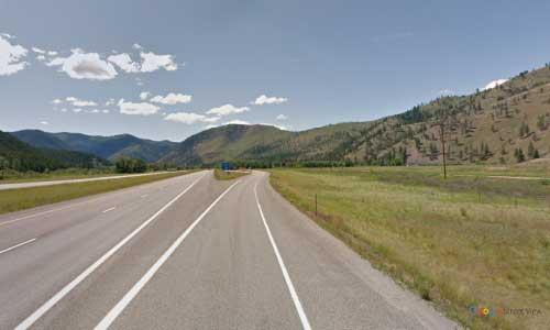 mt interstate i90 montana rock creek rest area westbound mile marker 127