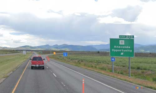mt interstate i90 mt1 montana anaconda rest area eastbound mile marker 208