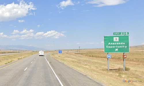 mt interstate i90 mt1 montana anaconda rest area westbound mile marker 208